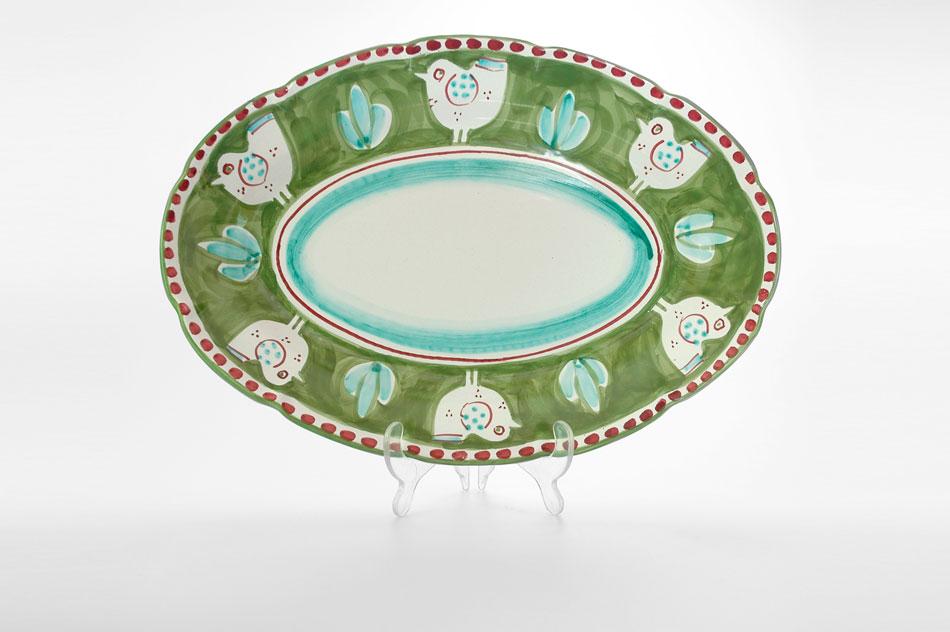 ... Cod. OV.38 - Piatto Ovale CM 38 ... & Ceramica Artistica Solimene