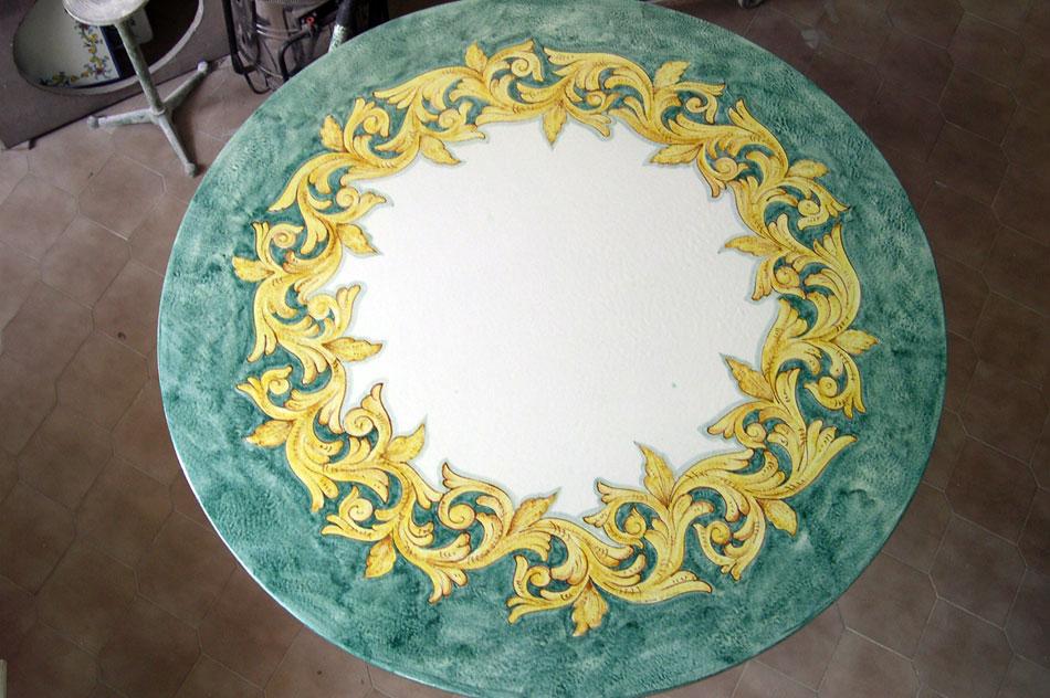 Tavoli Da Giardino In Ceramica Di Vietri.Ceramica Artistica Solimene